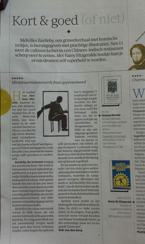 Recensie Volkskrant 8 oktober 2016